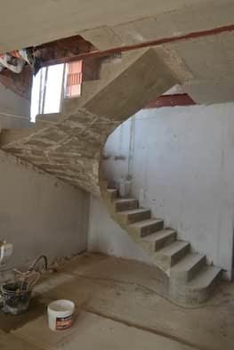П-образная бетонная лестница с забежными ступенями в Сабурово парке - Фото 2