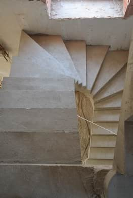 П-образная бетонная лестница с забежными ступенями в Сабурово парке - Фото 3
