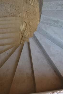 П-образная бетонная лестница с забежными ступенями в Сабурово парке - Фото 4