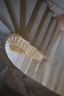 П-образная бетонная лестница с забежными ступенями в Сабурово парке - Фото 6