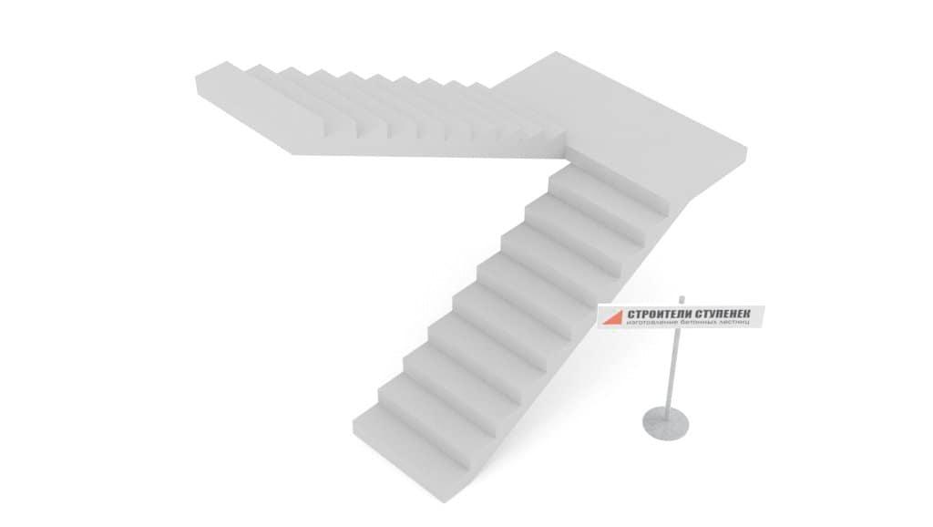 Классическая бетонная лестница