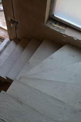 Г-образная бетонная лестница с площадкой - Фото 14