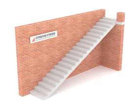 Одномаршевая бетонная лестница классическая