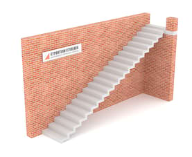 Одномаршевая бетонная лестница  зеркальная