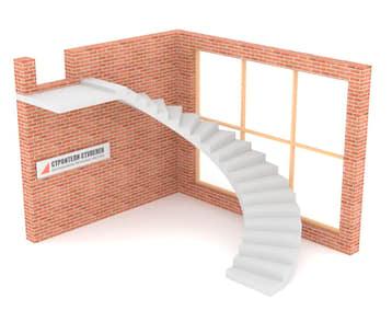 Полувинтовая бетонная лестница  классическая