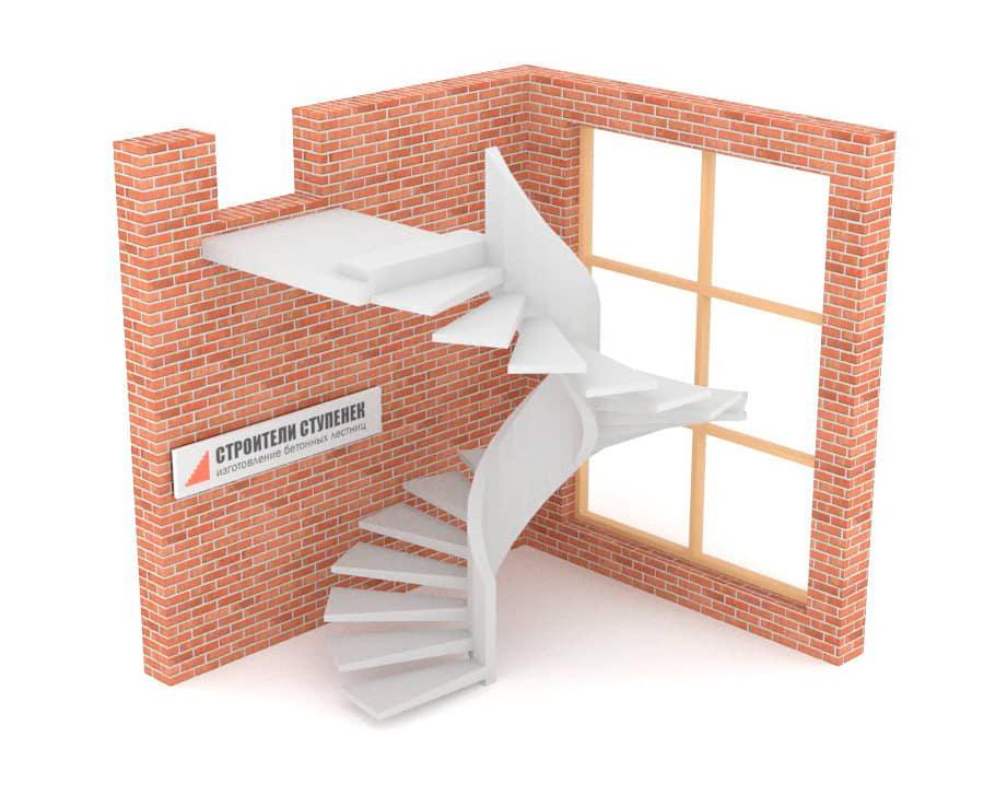 Винтовая бетонная лестница  эксклюзив #3