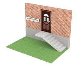 Уличная бетонная лестница  с фундаментом